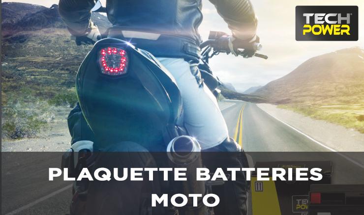 PLAQUETTE BATTERIES MOTO