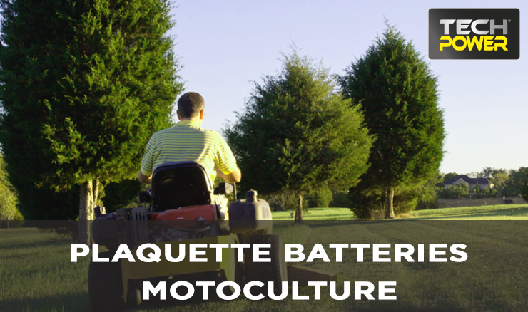 PLAQUETTE BATTERIES MOTOCULTURES