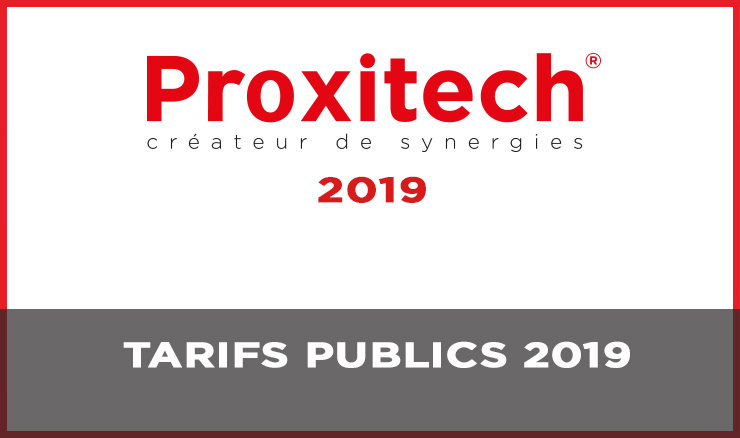 TARIFS PUBLICS 2019
